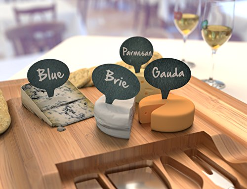 Cheese Marker Gift Set of 4 Cheese Labels & 2 Chalk Markers - Wine and Cheese Tasting Gift Set - Washable Cheese Markers - Gifts for Wine Lovers – by HouseVines