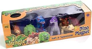 Wild Republic T-Rex, Triceratops, Stegosaurus, Diplodocus, Ankylosaur, Brachiosaurus, Junior Jungle Dino Playset, 6 pc Set