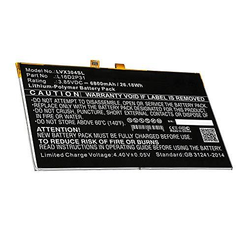 subtel Batería Recargable Compatible con Lenovo Tab 4 10 / Tab 4 10.1 6800mAh L16D2P31 Repuesto Pila sustitución Bateria