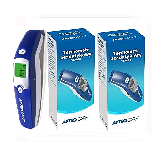 APTEO Care No Touch Forehead Thermometer CE TE-003 Lot of 2, Poland Best Thermometer