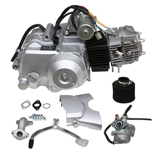 ZXTDR 125cc Engine 4-Stroke Motor Semi-Auto 3 Forward 1 Reverse Gear for ATV 4 Wheelers Tricycle
