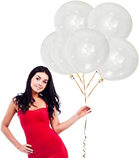 18 Inch Clear Big Balloons 25 Pack Thick Latex Balloons for Photo Shoot Wedding Baby Shower Birthday Party Decorations by ...