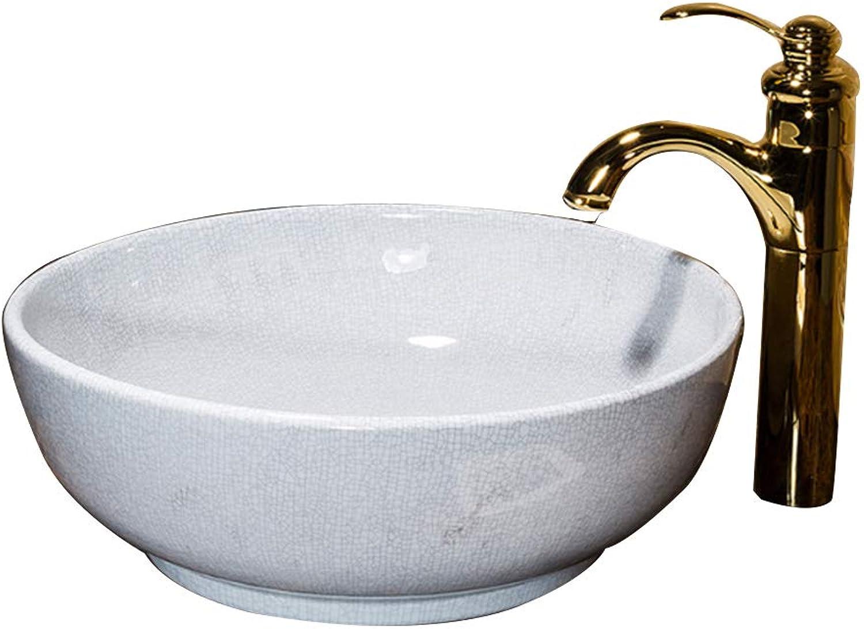 MICOKY Aufsatzbecken Badezimmer rund Keramik Keramik Keramik über ...