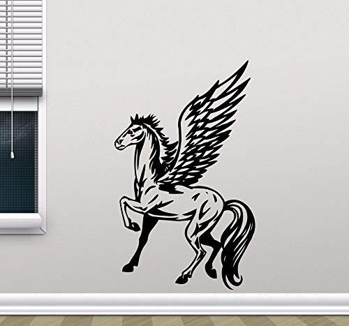 Pegasus Winged Horse Flying God Pferd Wandaufkleber Abnehmbare Einhorn Vinyl Wandtattoo Home Decoration Kinderzimmer Wallpaper Kunst Wandbilder