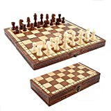 Dosenstek Folding Hand Crafted Wooden Wood Chess Set 30 X 30CM