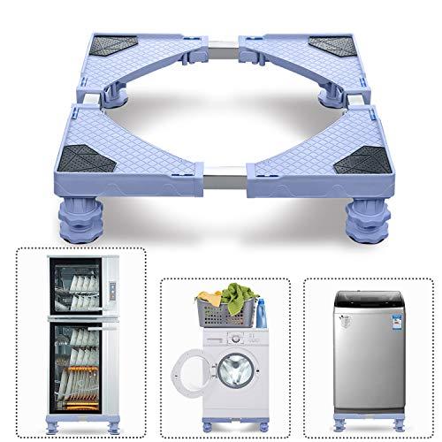 Aufun Waschmaschinen-Untergestell Verstellbare Waschmaschinen Sockel, Podeste & Rahmen für Waschmaschinen, Trockner und Kühlschrank (Länge&Breite 45-75 cm, Höhe 10-13 cm Einstellbare), MAX 200kg