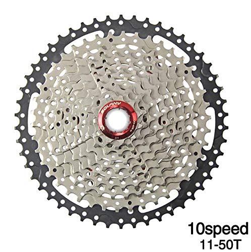 FANGXUEPING VTT Vélo Roue Libre 8 9 10 11 Vitesse 40 42 46 50 T Volant pour Shinamo XT SLX Sram Vélo De Vélo Cassette Accessoires 10Speed 11-50T