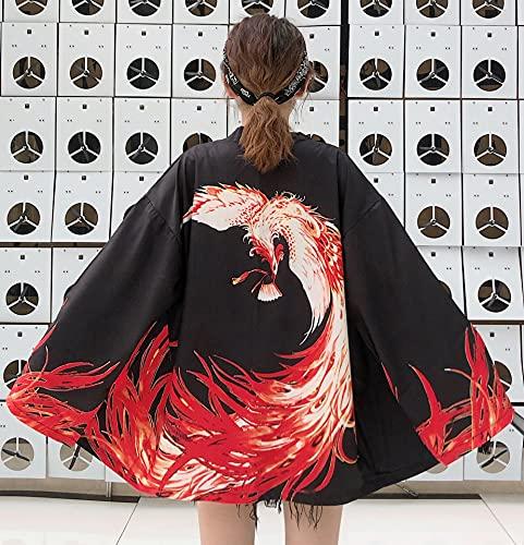 Esdlajks Kawaii Hoodie para Mujer - 2021 otoño Estilo Chino Abrigo literario Retro Mejorado y Ropa Hombres y Mujeres Amantes de la Manga Larga Abrigo Fino (Color : Black, Size : One Size)
