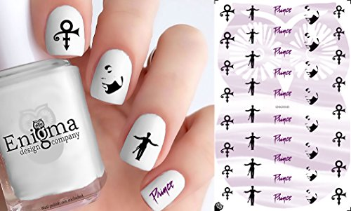Prince Style Clear Water-Slide Nail Decals