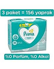 Prima Islak Havlu Mendil, Hassas Ciltler için Fırsat Paketi, 3'lü, 156 Yaprak