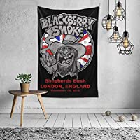 寝室の多目的寮の黒と白の60x40インチのためにぶら下がっている家の装飾BlackBerry煙タペストリー壁