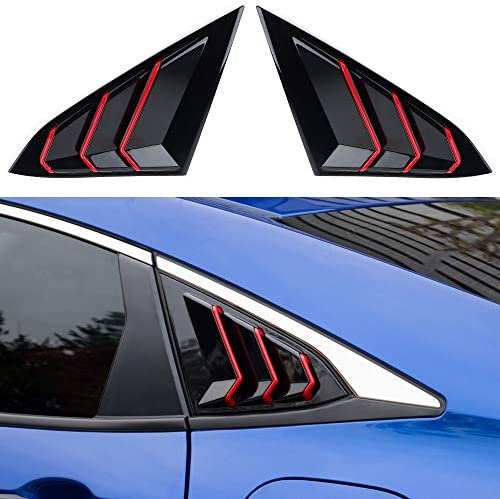 Thenice for 10th Gen Civic Racing Style Rear Side Window Louvers Air Vent Scoop Shades Cover product image