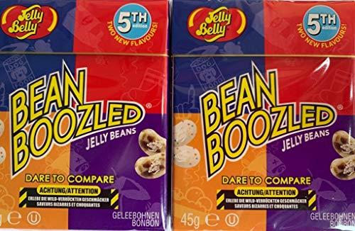 2 x 5 generación Bean Boozled de Jelly Belly Beans en caja Flip Top de 45 g.
