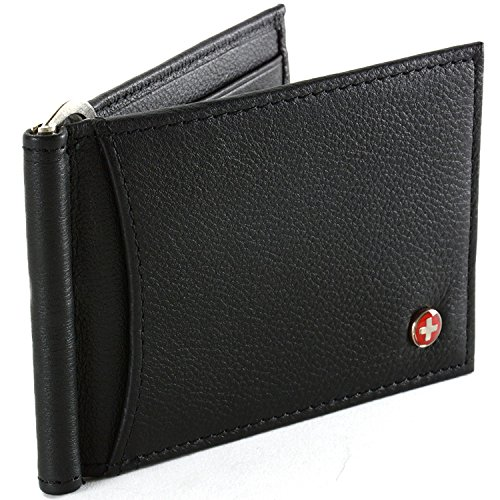 Mens Alpine Swiss Money Clip Front …