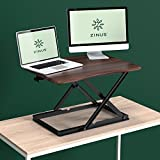 Zinus Molly Smart Adjust Standing Desk / Height Adjustable Desktop Workstation / 28' x 21' / Espresso
