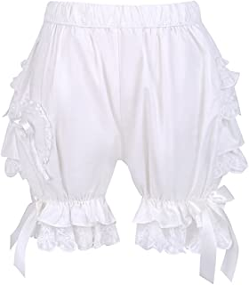 Antaina White Cotton Ruffles Victorian Lace Lolita Pumpkin Shorts Pants Bloomers