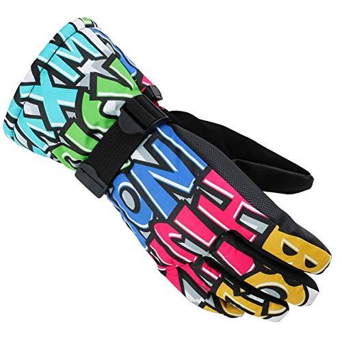 MYSdd Winterverdicken Ski Handschuhe Männer Frauen Kinder Winddicht wasserdicht Handschuhe einstellbar Radfahren Klettern Snowboard Schnee Handschuhe - 01 X XL