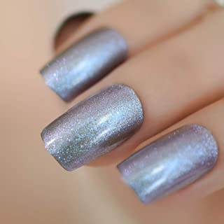 Meili Square Glitter Fake Nails Magical Shiny Surface Acrylic Artificial Nail Art Tips Several Colors For Choose L5006