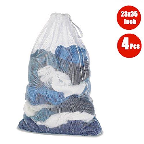 DoGeek – Bolso de ropa – Redes de lavado – para protèger los ropa lavadora en máquina – blanco (4 pcs), blanco