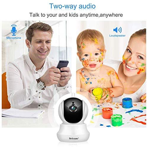Sricam SP020 Wireless Sicherheitskamera 1080P HD IP Kamera WiFi Nachtsicht Infrarot Bidirektionale Audio weiß