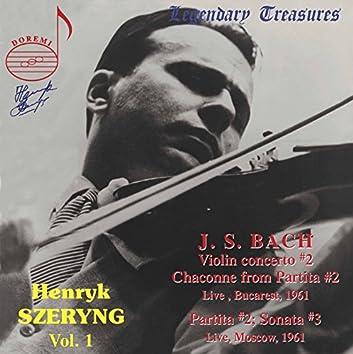 Henryk Szeryng, Vol. 1: Bach (Live)