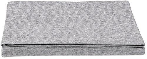 AmazonBasics - Sábana encimera, tejido jersey jaspeado, 240 x 320 + 10 cm - Gris