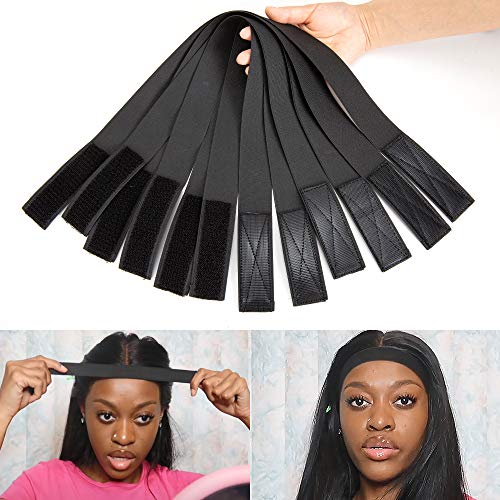 6Pcs Wig Edge Elastic Band With Adjust Band, Edge Slayer for Salon 65Cm Edge Grip Band 3.5Cm Width Edge Laying Band for Baby Hair Adjust Headband for Wigs 1.4 Inch Elastic Band