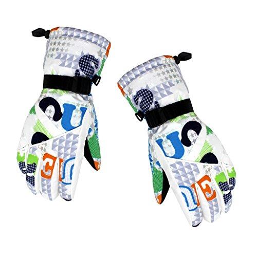 MagiDeal Damen Skihandschuhe Snowboard Handschuhe in Verschiedene schöne Farben   atmungsaktive, modische und sportliche Winterhandschuhe, windundurchlässig und wasserdicht - bunt Alphabet