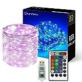 Onforu 10M Cadena de Luces RGB, USB Guirnalda LED Luminosa Control Remoto con Temporizador, Luces led Navidad Arbol IP65 Impermeable, 16 colores y 4 Modos Decoración Habitación Interior Fiesta