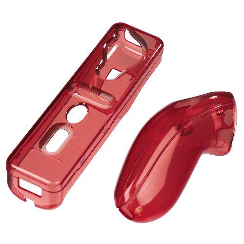 Hama Hardcase-Set für Nintendo Wii Fernbedienung, Transparent-Rot