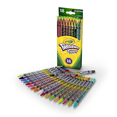 Crayola Twistables Colored Pencils, Assorted Colors 18 ea ( Pack of 11)