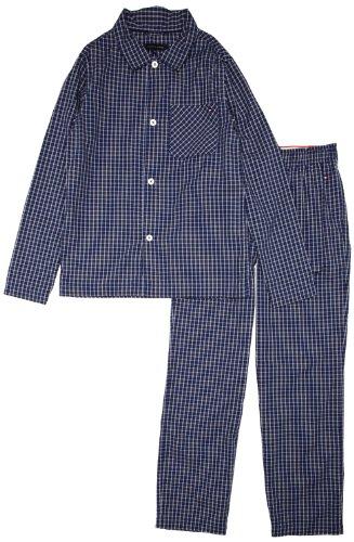 Tommy Hilfiger Jungen Pyjama COSGROVE WOVEN PJ SET / E557115687,Gr. 116 (6), Blau (422 SODALITE BLUE-PT)