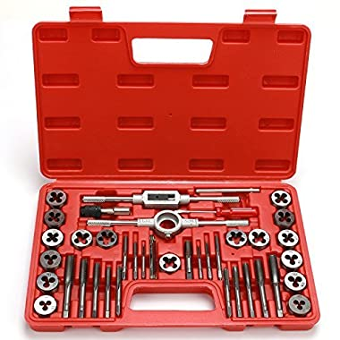 Best Choice 40-Piece Tap and Die Set - Metric Sizes | Essential Threading Tool with Storage Case