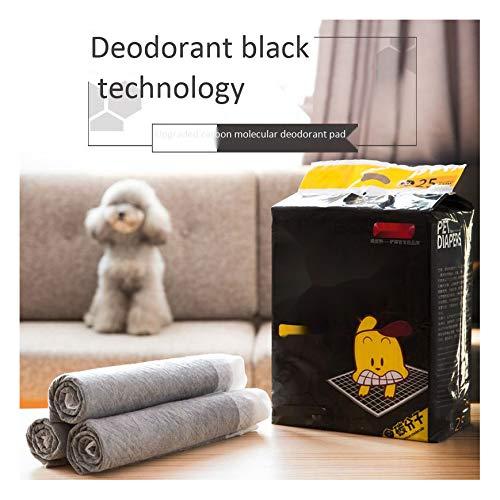 PETVE Haustier-Hundeurinkissen 100 der Windel verdickten desodorierende Windeln Windel saugfähige Kissen Teddy Kaninchen Kohlenstoffmoleküle,XL(25pieces)