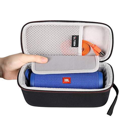 LTGEM Case for JBL Flip 5, JBL Flip 4 Speaker. Fits USB Cable and Accessories.