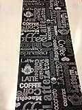 Tappeto cucina 67 X 300 caffè coffe caffe nero grigio lavabile in lavatrice antiscivolo