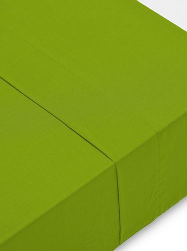 Abecé Casa Sábana Encimera Lisa Verde Manzana Cama 150 (240 x 270 cm)