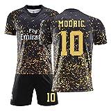 KTPD MǎDRǐD MɵDRɨC No.10black Jersey de fútbol conmemorativo de Oro, hogar o Jersey de fútbol de 2 Piezas, Set Tops + Pantalones Cortos black-28