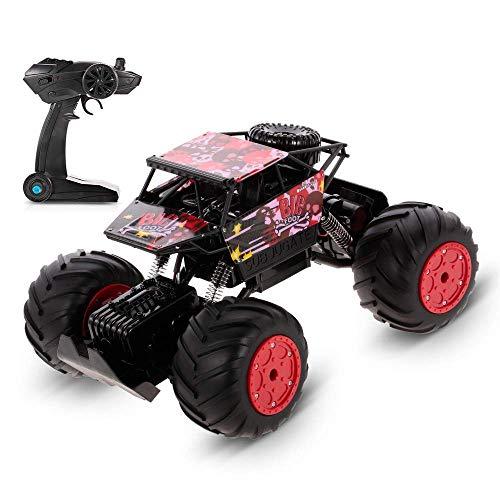 ZCYXQR Coche de Control Remoto 1/12 2.4G 4WD Anfibio 20KM / h Karting de Alta Velocidad Rock Crawler RC Coche Juguetes Regalos para niños para niños (Regalos de cumpleaños y Vacaciones)