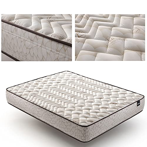 Tanuk Natural Cotton 200x200 Super King Size High Resilience Foam Mattress - Colchones (270 mm, 2000 mm, 2000 mm, Super King Size, High Resilience Foam Mattress, Beige)
