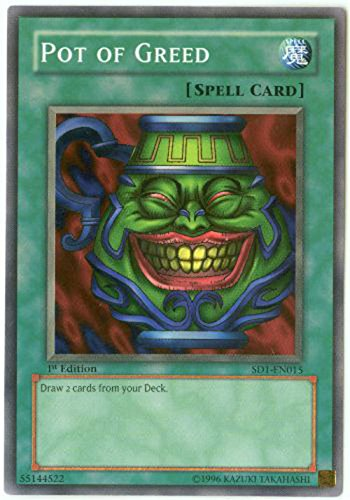 Yu-Gi-Oh! - Pot of Greed SD1 (SD1-EN015) - Structure Deck 1: Dragon's Roar - Unlimited Edition - Common