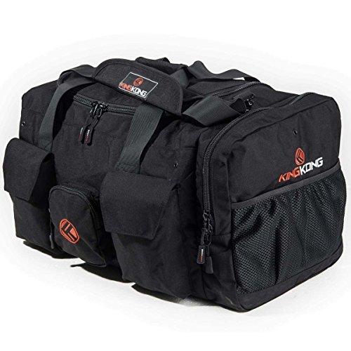 "King Kong Giant Kong Original Nylon Gym Bag - Large Heavy Duty and Water-Resistant Duffle Bag - Military Spec Nylon- Heavy Duty Steel Buckles - 22"" x 13.5"" x 13"" - Black"