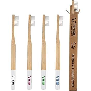 : PRIME ART WOOD Bambus Zahnbürste im 5er Set