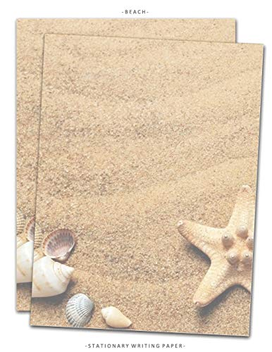 Compare Textbook Prices for Beach Stationary Writing Paper: Letterhead Paper, 25 Sheets, Sand Seashells Themed for Writing, Flyers, Copying, Crafting, Invitations, Party, Office, ... School Supplies, 8.5 x 11 Inch Stationery  ISBN 9781070109947 by Very Stationary Paper