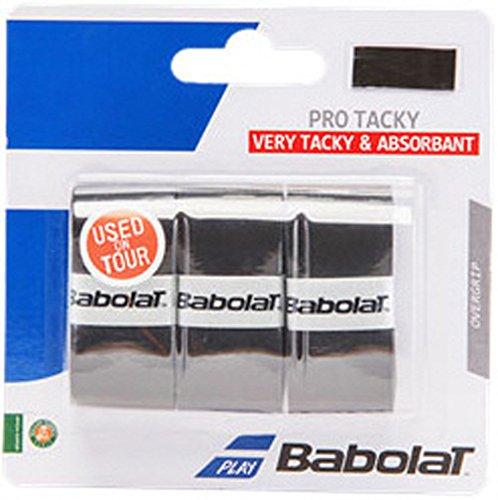 Babolat Pro Tacky Overgrip X3 Tennis Badminton Squash negro