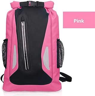 JITALFASH 25L Outdoor River Trekking Backpack Waterproof Bag Camping Hiking Backpacks Dry Bag Pink