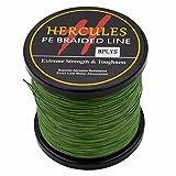 Hercules Braided Fishing Line Superline PE 500m 547yds 10lb-300lb 8 Strands (20lb/9.1kg 0.20mm)