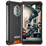 Blackview BV6600 (2021), Teléfono Móvil Android 10 4G de 5,7', 4 GB de RAM, 64 GB de ROM, Expansión de 128 GB, Cámara 16 MP + 8 MP, Batería de 8580 mAh, Dual SIM NFC GPS Giroscopio FM Naranja