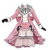 Kuroshitsuji Black Butler Ciel Phantomhive Cosplay Costume Pink Lolita Dress Halloween Costume Full Set (Costume,Female XS)