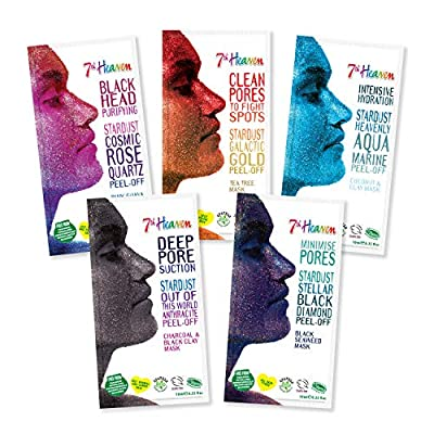 StarDust Complete Galactic Peel-Off Mask Range By 7th Heaven - Cleanse & Purify, Reduce Redness, Hydrate for Ultra Clean, Healthy, Glowing Skin.